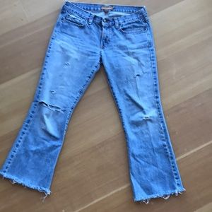 Distressed Abercrombie & Fitch flare jeans